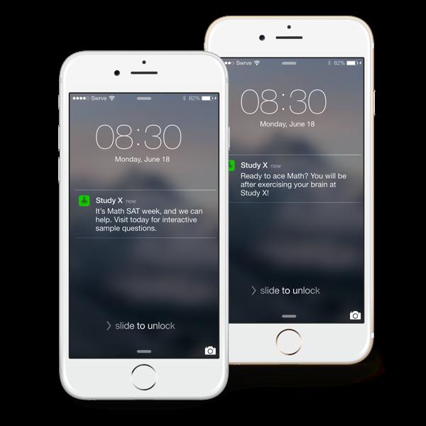 Education mobile app user re-engagement push notification