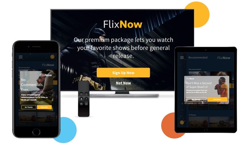 Multiscreen examples of media streaming conversion message