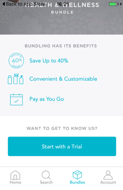 Screenshot Honest Company bundling optiond