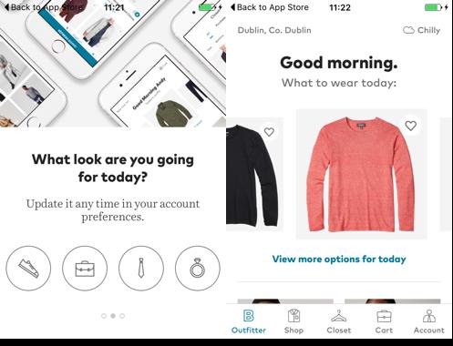 Bonobos app personalised experiences
