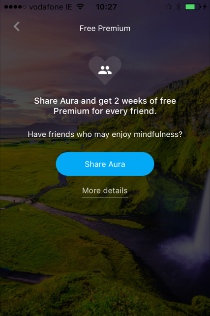 Aura screenshot friend referral incentive