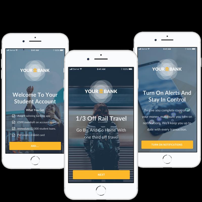 Finance on boarding in app message
