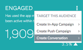 Engaged users - create conversation
