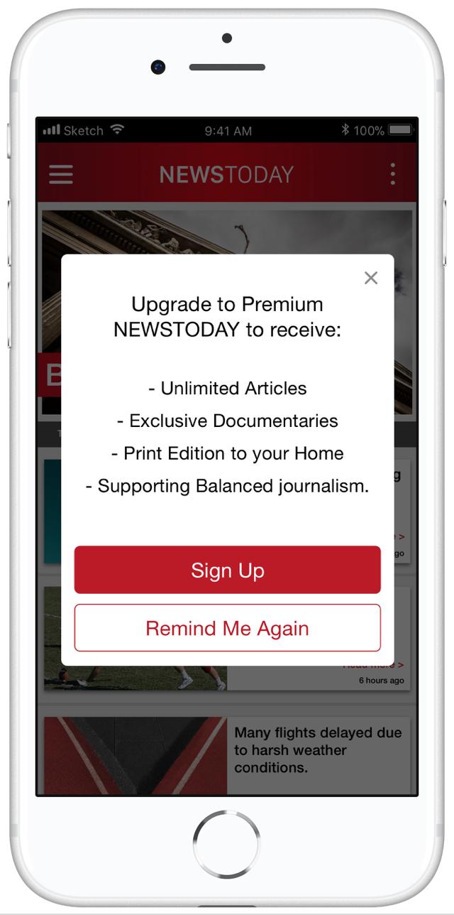 Use case example publishing subscription