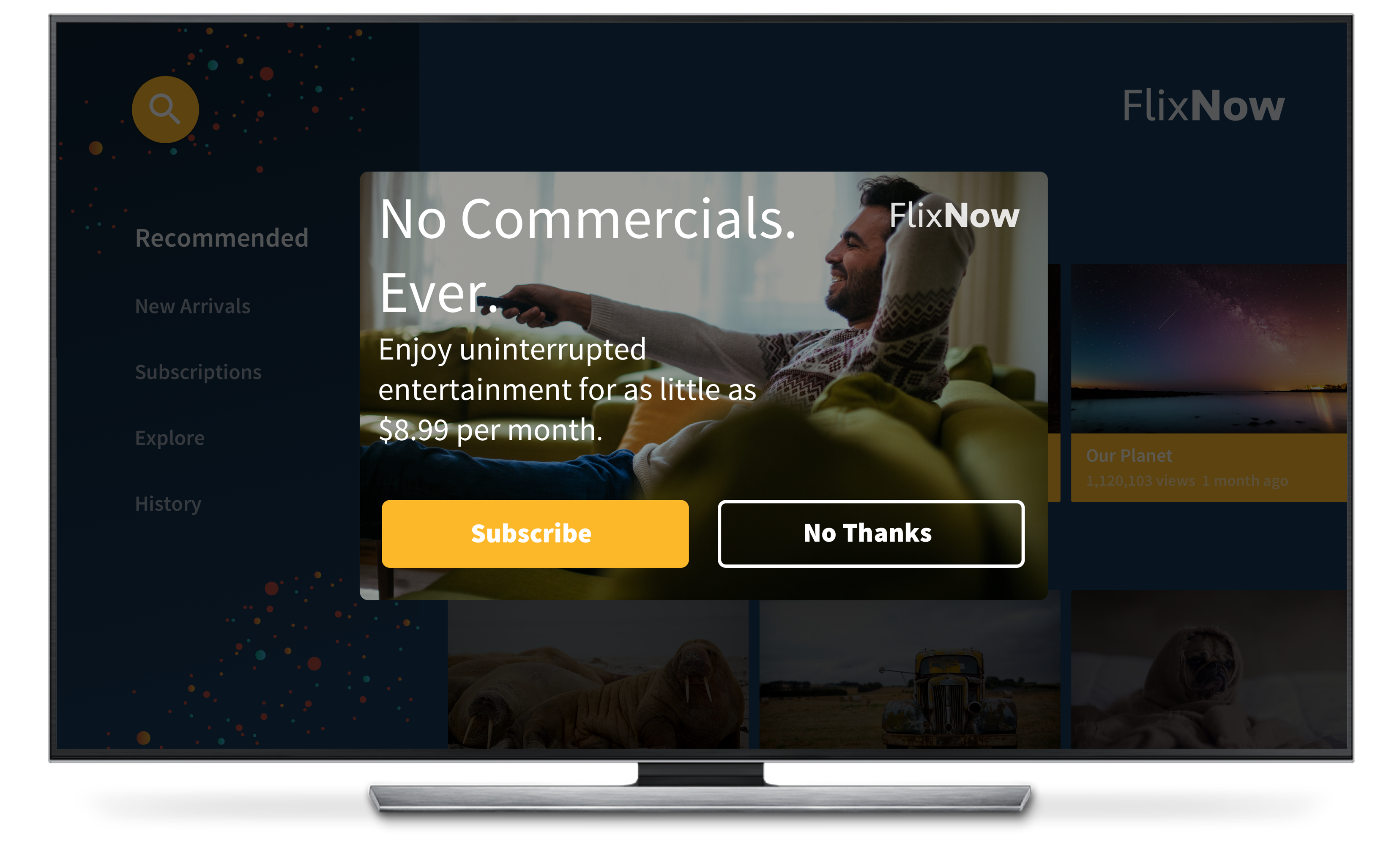 OTT media streaming in app message use case