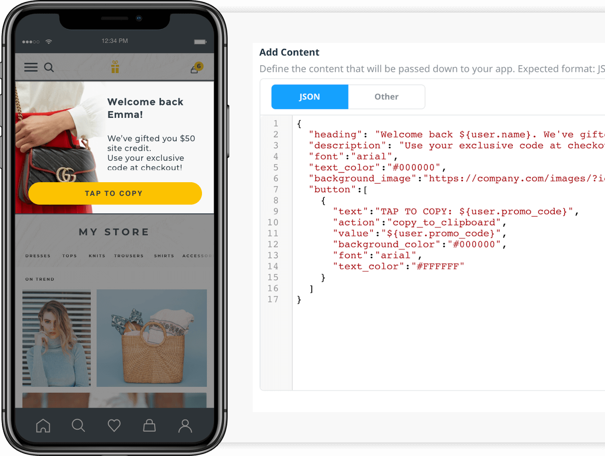Create 100% Native In-app Messages