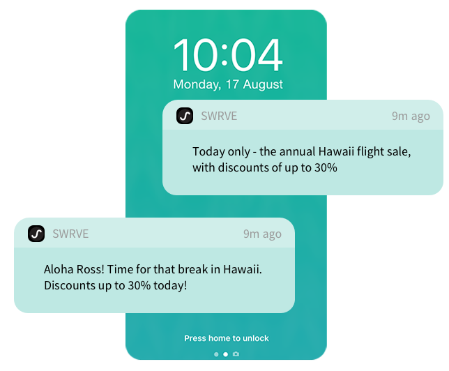 A/B test and optimize push notifications