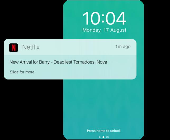 Netflix's push notification retention campaign