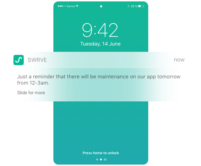 Remind Them Closer To The Time With  A Push Notification