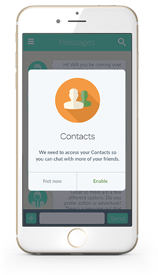 Maximize Opt-In to Share Contacts